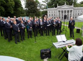 Singing at Cavan County Museum , at the Battle of the Somme Event Friday, 29 July 2016