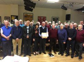The choir cerebrates Patsy's 80th Birthday