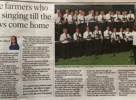 Choir in the Farming Independent May 2019